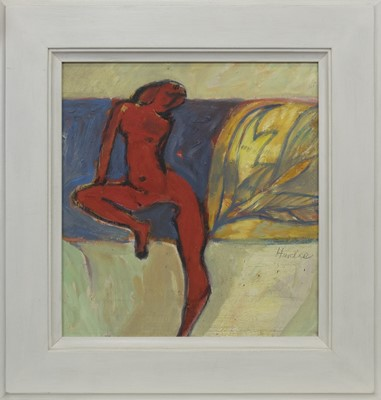 Lot 545 - WOMAN AND WALTZER, AN OIL BY JAMES HARDIE