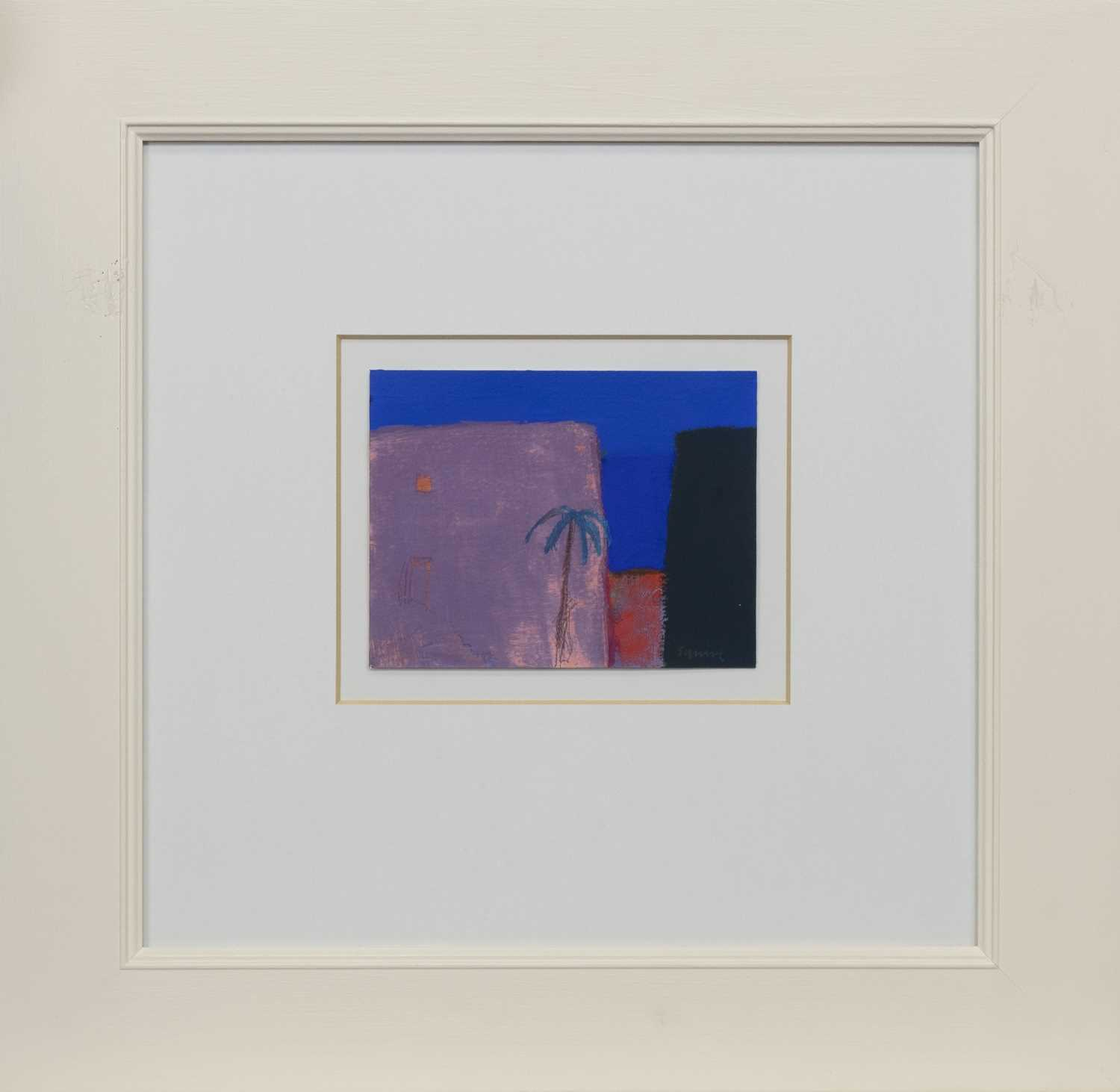Lot 530 - PALM TREE, AN OIL BY ANDREW SQUIRE