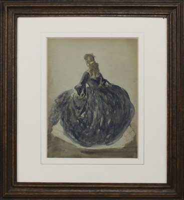 Lot 1 - STUDY OF A WOMAN, A WATERCOLOUR BY CONSTANTIN GUYS