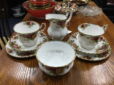 Lot 35A - A ROYAL ALBERT OLD COUNTRY ROSES TEA SERVICE
