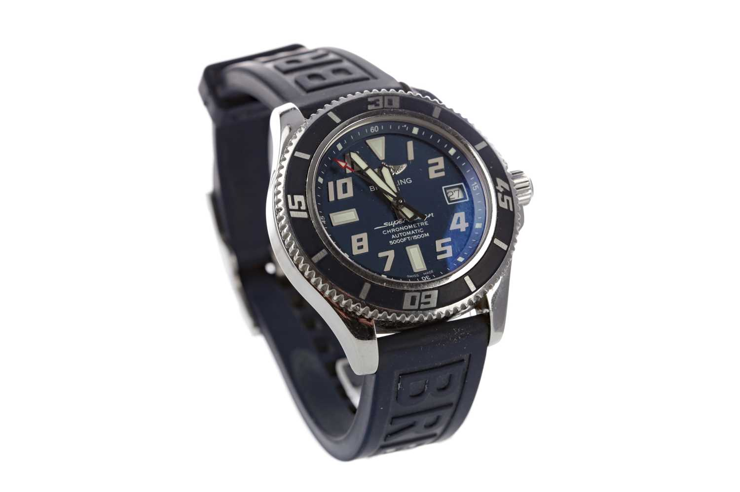Lot 714 - A GENTLEMAN'S LIMITED EDITION BREITLING SUPEROCEAN CHRONOMETER STAINLESS STEEL AUTOMATIC WRIST WATCH