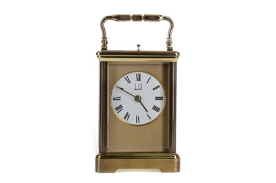 Lot 1102 - A 20TH CENTURY DUNHILL BRASS REPEATER CARRIAGE CLOCK