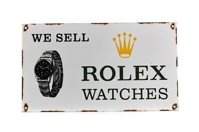 Lot 1303 - A VINTAGE ROLEX METAL ADVERTISING SIGN