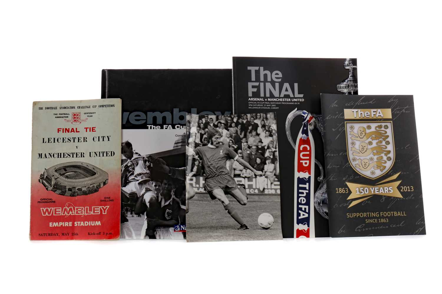 Lot 1777 - A COLLECTION OF F.A. CUP FINAL PROGRAMMES, ALONG WITH A BOOK