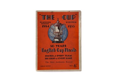 """Lot 1778 - THE CUP"""", 50 YEARS OF THE ENGLISH CUP FINALS, A COMMEORATIVE PROGRAMME FOR THE 1933 FA CUP FINAL"""