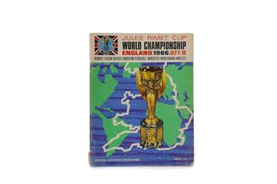 Lot 1779 - A 1966 JULES RIMET CUP WORLD CHAMPIONSHIP COMMEMORATIVE PROGRAMME
