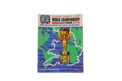 Lot 1780 - A 1966 JULES RIMET CUP WORLD CHAMPIONSHIP COMMEMORATIVE PROGRAMME