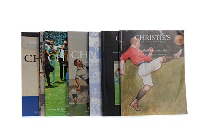 Lot 1784 - A COLLECTION OF NINE FOOTBALL MEMORABILIA AUCTION CATALOGUES