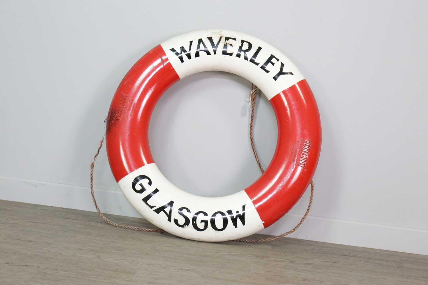Lot 1361 - A LATE 20TH CENTURY LIFEBUOY FROM THE PS WAVERLEY