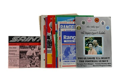 Lot 1786 - A COLLECTION OF SCOTTISH CUP PROGRAMMES