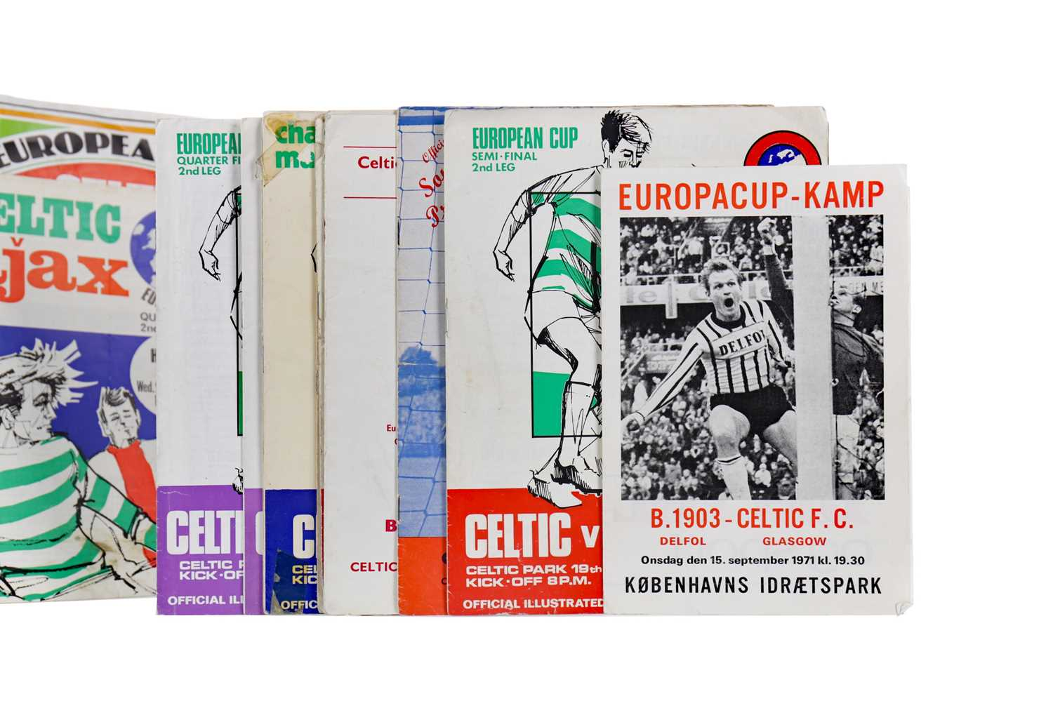 Lot 1787 - A COLLECTION OF CELTIC F.C. EUROPEAN PROGRAMMES