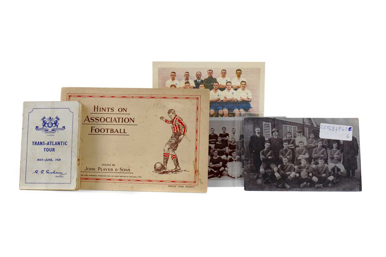 Lot 1795 - SCOTTISH FOOTBALL ASSOCIATION TRANS-ATLANTIC TOUR, 1939, ALONG WITH THREE POSTCARDS