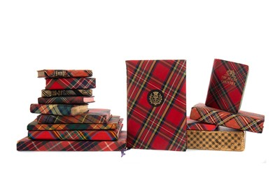 Lot 1096 - A GROUP OF TARTAN CLOTH BOUND VOLUMES