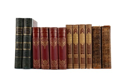 Lot 1095 - TWO VOLUMES OF THE PROSE WORKS BY ROBERT BURNS AND TEN OTHER POETRY VOLUMES