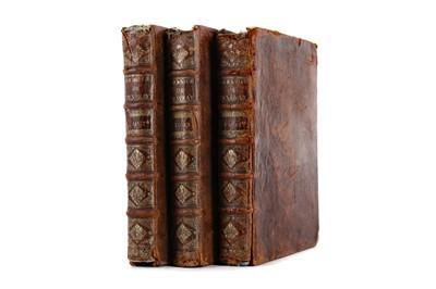 Lot 1098 - THREE VOLUMES OF ABBREGE CHRONOLOGIQUE L'HISTOIRE DE FRANCE BY DE MEZERAY
