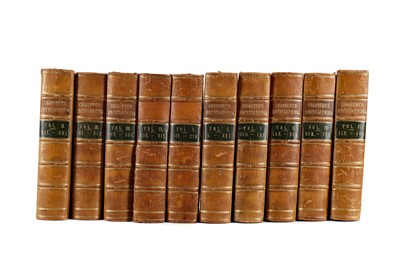 Lot 1111 - TEN VOLUMES OF CHAMBERS ENCYCLOPAEDIA