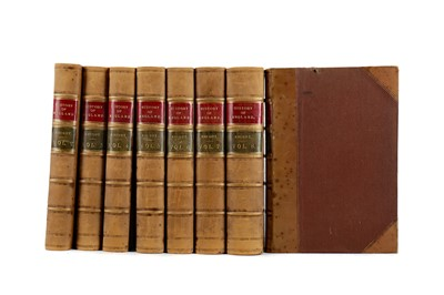 Lot 1112 - EIGHT VOLUMES OF KNIGHT'S POPULAR HISTORY OF ENGLAND