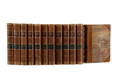 Lot 1118 - TWELVE VOLUMES OF THE POETICAL WORKS BY SIR WALTER SCOTT