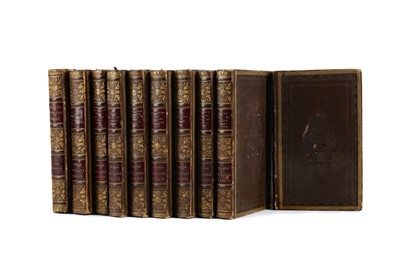 Lot 1119 - TEN VOLUMES THE POETICAL WORKS BY SIR WALTER SCOTT