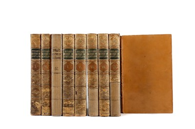 Lot 1124 - NINE VOLUMES OF HISTORY OF SCOTLAND BY PATRICK FRASER TYTLER