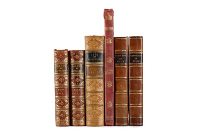 Lot 1125 - NAPOLEON IN EXILE BY BARRY E O'MEARA AND FIVE OTHER VOLUMES
