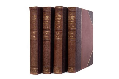 Lot 1131 - THIRTY TWO VOLUMES OF ENCYCLOPAEDIA BRITANNICA PLUS INDEX