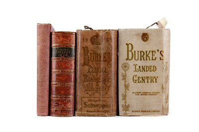 Lot 1132 - TWO VOLUMES BURKE'S PEERAGE AND TWO OTHER VOLUMES