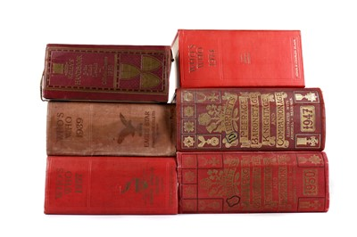 Lot 1133 - TWO VOLUMES OF DEBRETT'S PEERAGE AND FOUR OTHER BOOKS
