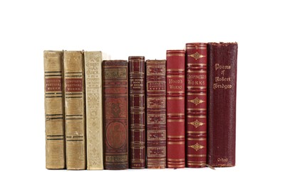Lot 1134 - A LOT OF LEATHER BOUND POETICAL WORKS