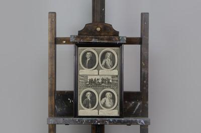 Lot 1010 - JACOBITE INTEREST, MID 18th CENTURY QUADRUPLE ENGRAVED PORTRAIT GROUP BY B. COLE
