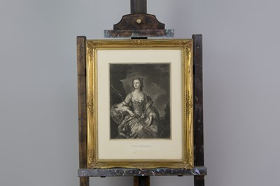 Lot 1011 - THOMAS HUDSON (AFTER), THREE QUARTER LENGTH PORTRAIT OF FLORA MACDONALD AND THREE OTHERS