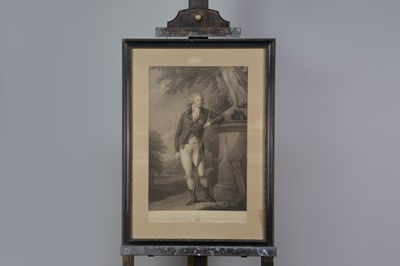 Lot 1025 - AN ENGRAVING AFTER JOHN RUSSELL AND ANOTHER