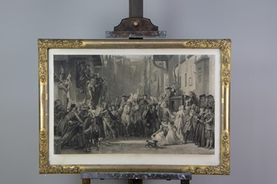 Lot 1028 - A LINE ENGRAVING AFTER THOMAS DUNCAN