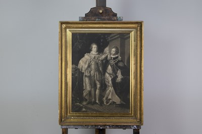 Lot 1029 - A MEZZOTINT AFTER VALENTINE GREEN AND ANOTHER