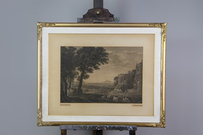 Lot 1035 - TWO ENGRAVINGS AFTER CLAUDE LORRAIN