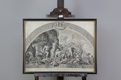 Lot 1043 - A LINE ENGRAVING AFTER CORAZZARI AND ANOTHER