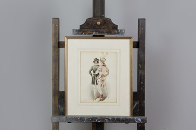 Lot 1054 - A WATERCOLOUR OF 'TWO GAY BLADES' AND ONE OF APOLLO