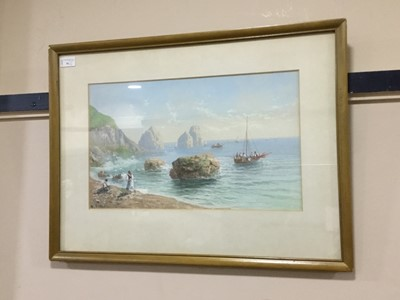 Lot 81 - A LOT OF FOUR WATERCOLOURS SIGNED M. GIANNI