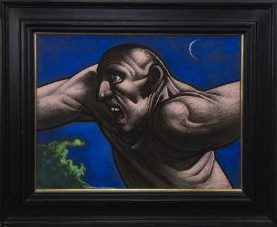 Lot 525 - FELIX, A PASTEL BY PETER HOWSON