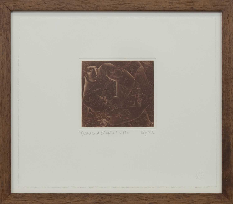 Lot 549 - OAKLAND CHAPTER, A MEZZOTINT BY JOHN BYRNE