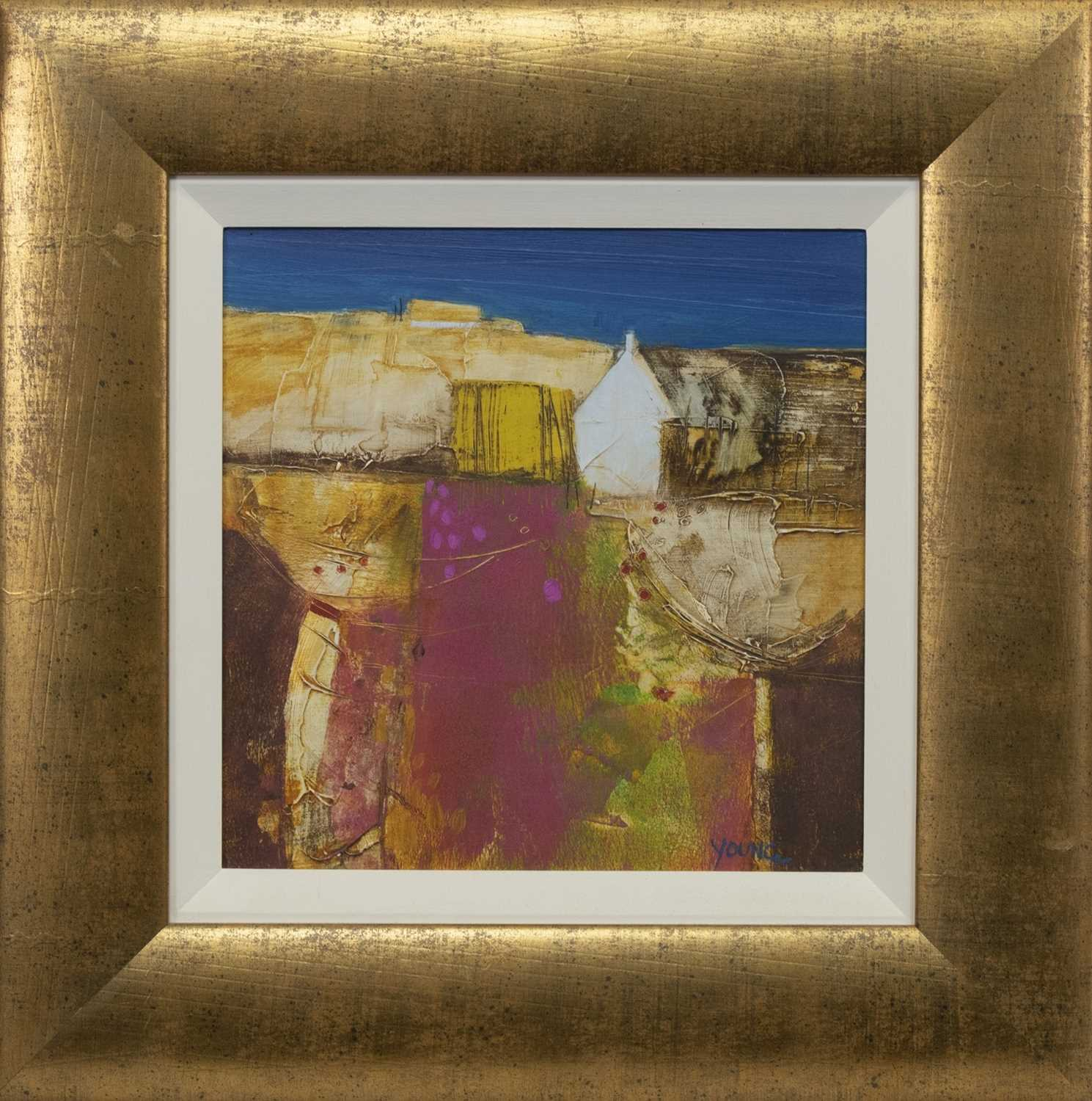 Lot 550 - CHEERY DAY, AN ACRYLIC BY GEORGIE YOUNG