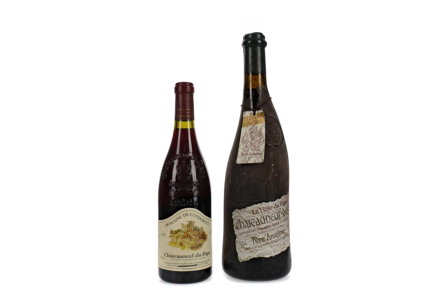 Lot 32 - MAGNUM OF PERE ANSELME CHATEANEUF-DU-PAPE AND ONE BOTTLE OF DOMAINE DE CONDERCET 1997
