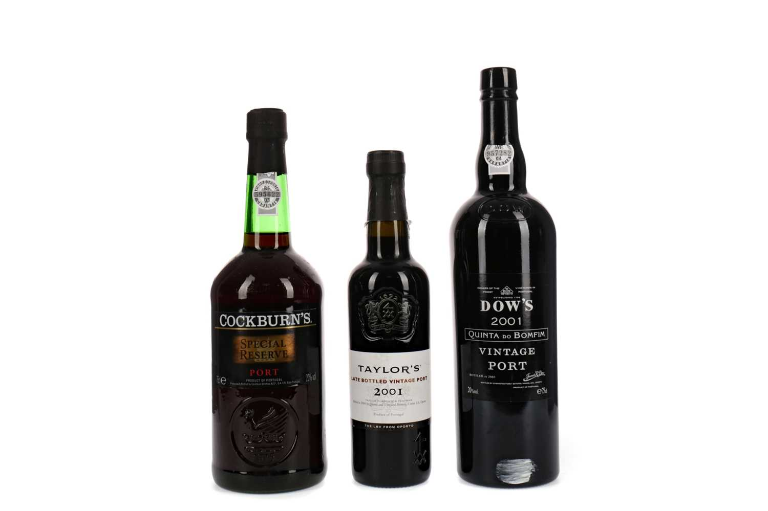 Lot 55 - DOW'S 2001, TAYLOR'S 2001 AND COCKBURN'S SPECIAL RESERVE