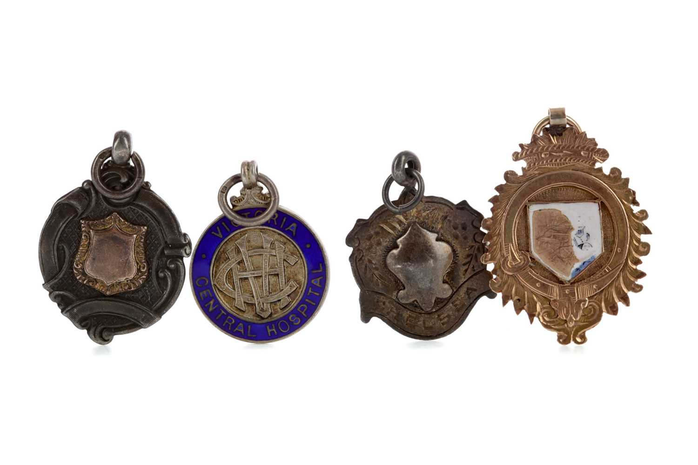 Lot 1820 - W. STEVENSON OF NEILSTON - HIS RENFREWSHIRE CUP GOLD MEDAL 1913/14