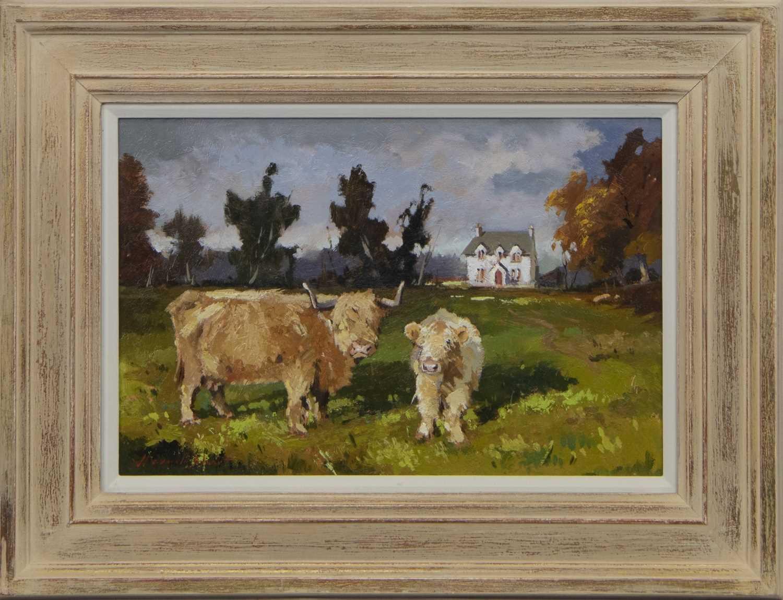 Lot 578 - MORAG & MYRTLE, AN OIL BY JOSEPH MAXWELL STUART