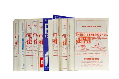 Lot 1823 - A COLLECTION OF THIRD LANARK F.C. PROGRAMMES