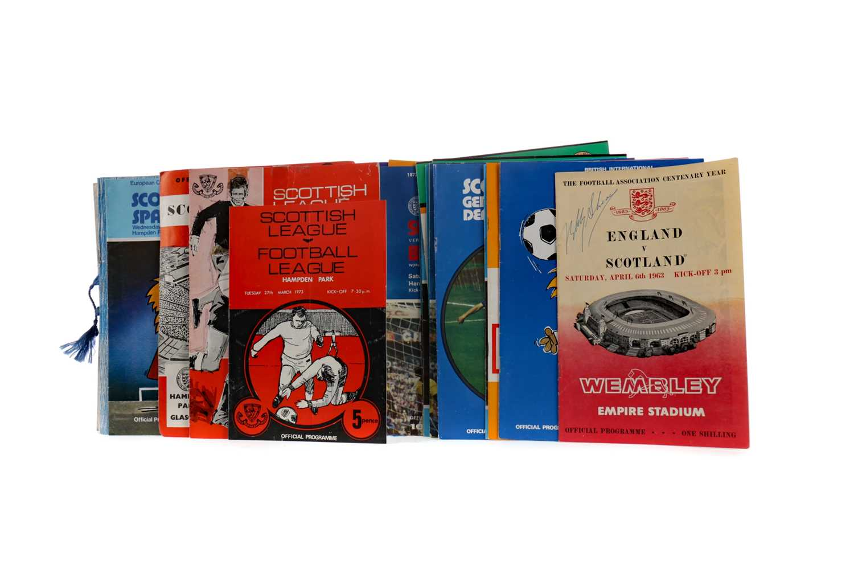 Lot 1825 - A COLLECTION OF SCOTLAND INTERNATIONAL PROGRAMMES
