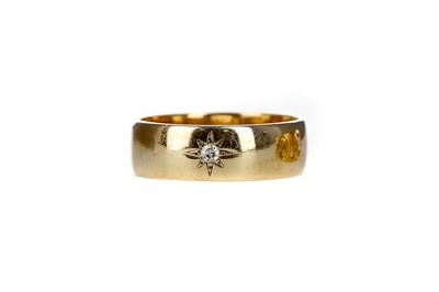 Lot 306 - A DIAMOND SET WEDDING BAND