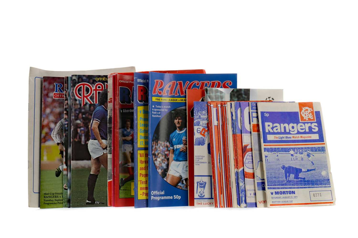 Lot 1828 - A COLLECTION OF RANGERS F.C. PROGRAMMES