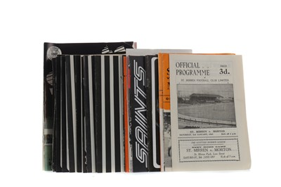 Lot 1829 - A COLLECTION OF ST. MIRREN F.C. PROGRAMMES